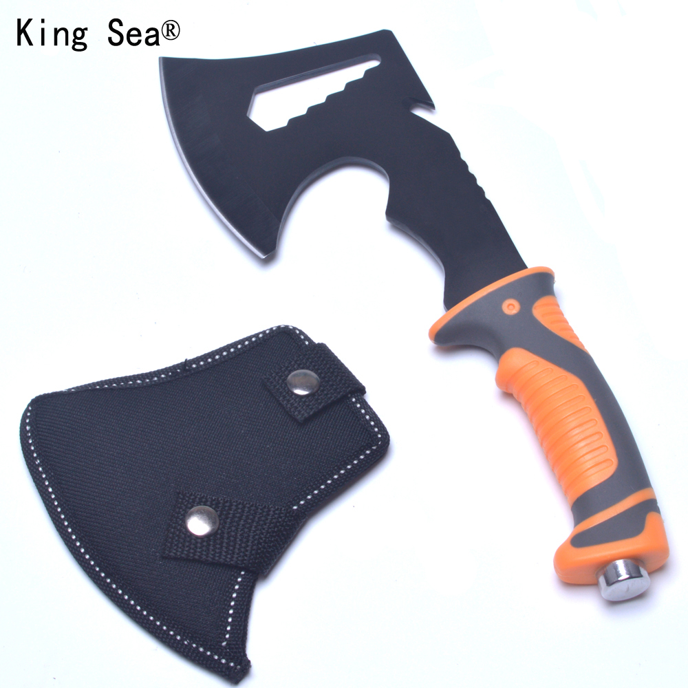 King Sea 2017 New  Survival Tomahawk Axes Hatchet Multifunction Camping Hand Fire Axe Boning Knife With Plascti Handle multifunction tactical axe tomahawk multi army outdoor hunting camping survival machete axes hand outdoor tools hatchet fire axe