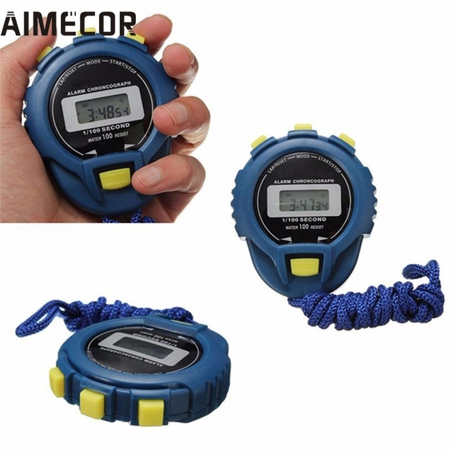 Aimecor LCD Chronograph Digital Timer Stopwatch Sport Counter Odometer Watch Ala