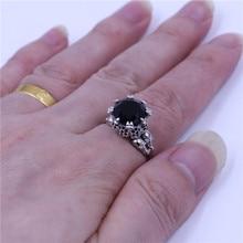 Choucong панк череп кольцо для женщины мужчины 5ct AAA Циркон CZ Кристалл Нержавеющая сталь партия любителей Обручальное кольцо Модные украшения