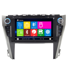 9 inch new products 2015 for toyota camry car dvd player gps bluetooth radio FM AM