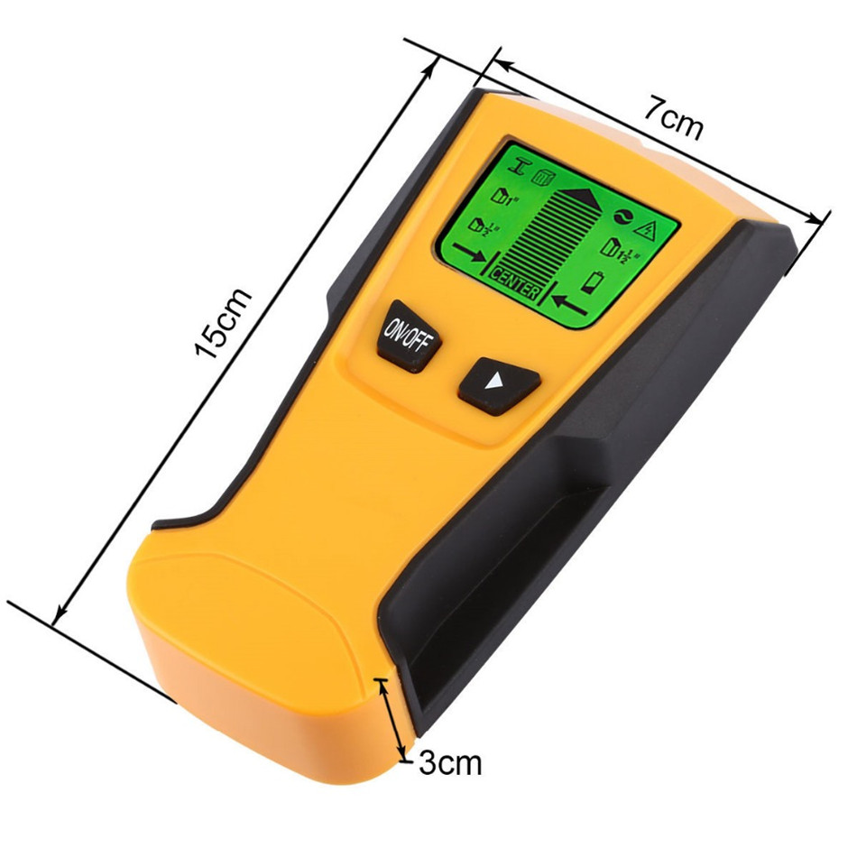 TH210 Waysear 3 In1 Metal Detectors Stud Center Finder and AC live Wire Wall Scanner Electric Box Finder