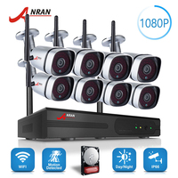 ANRAN Plug Play P2P 1080P 8CH WIFI NVR Kit Outdoor 36 IR Day Night Video 2