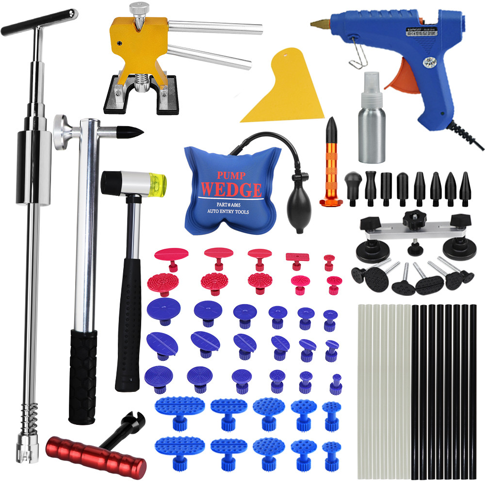 PDR Tools For Car Kit Instruments Car Body Repair Kit Dent Puller Removal Dent Lifter Tool Set Suction Cup For Car Dents pdr tools to remove dents car dent repair paintelss dent removal puller kit lifter removal glue tabs fungi sucker hand tool set