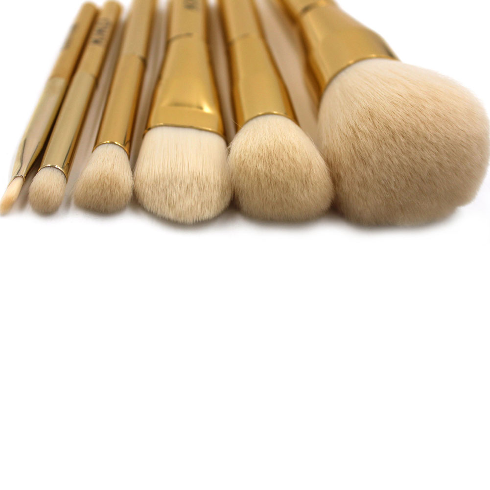 Pro Foundation Powder Makeup Brush Set Gold Powder & Blush brush cosmetics make up brushes ...