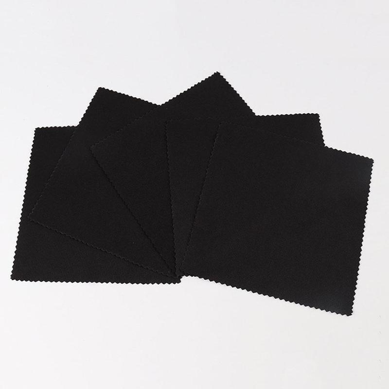 10Pcs Glasses Cloth Microfiber Cleaner Cloths Cleaning Glasses Lens Clothes Black Eyeglasses Cloth Eyewear Accessories