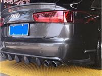 NEW Carbon fiber Rear Bumper Lip Spoiler Diffuser Cover For AUDI A6 S6 C7 2012 2013 2014 2015 BY EMS