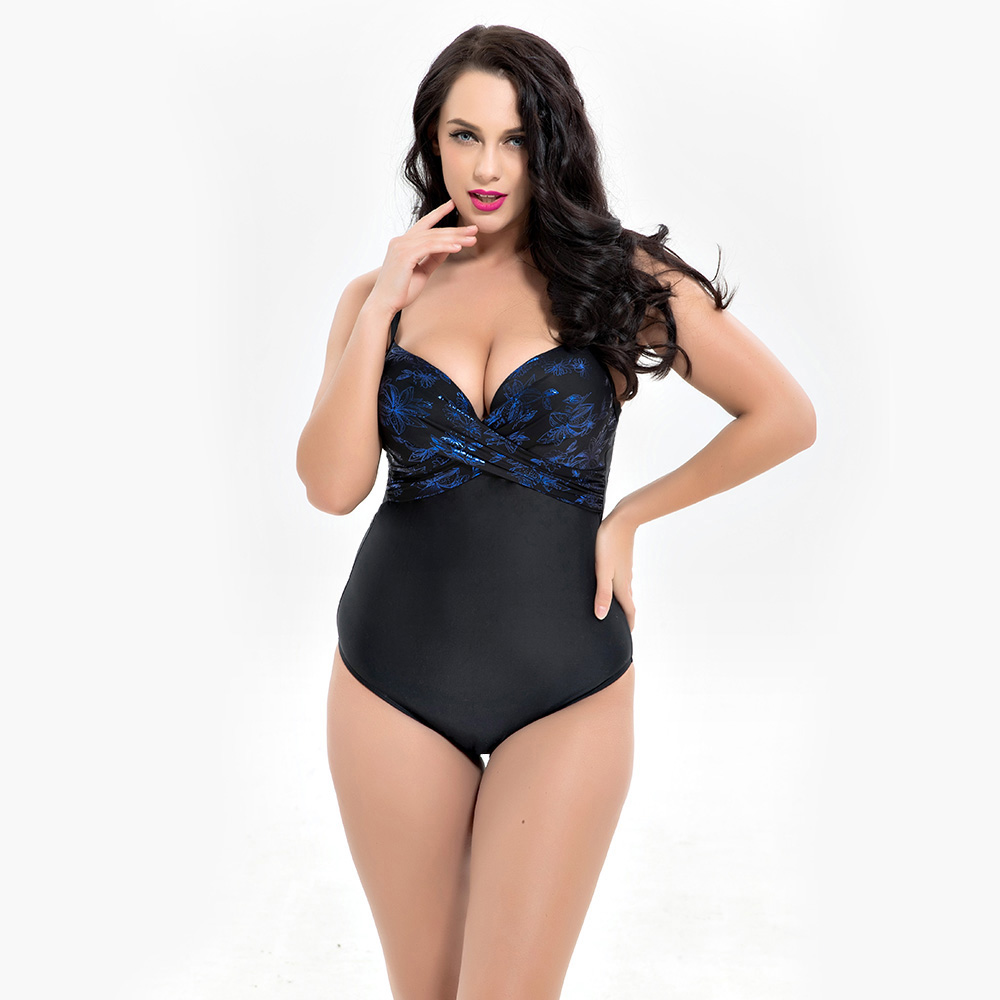 6XL Large Big Plus Size Swimwear For Women Sexy One Piece Swimsuit 2018 Slimming Female Print Retro Beach Bathing Suit Bodysuit 2018 sexy plus size one piece swimsuit women dress swimwear female bather black white plaid print beach bathing suit skirt
