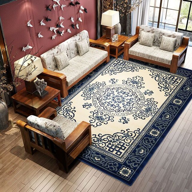 Traditional Chinese pattern big size thicken carpet ,office room ...