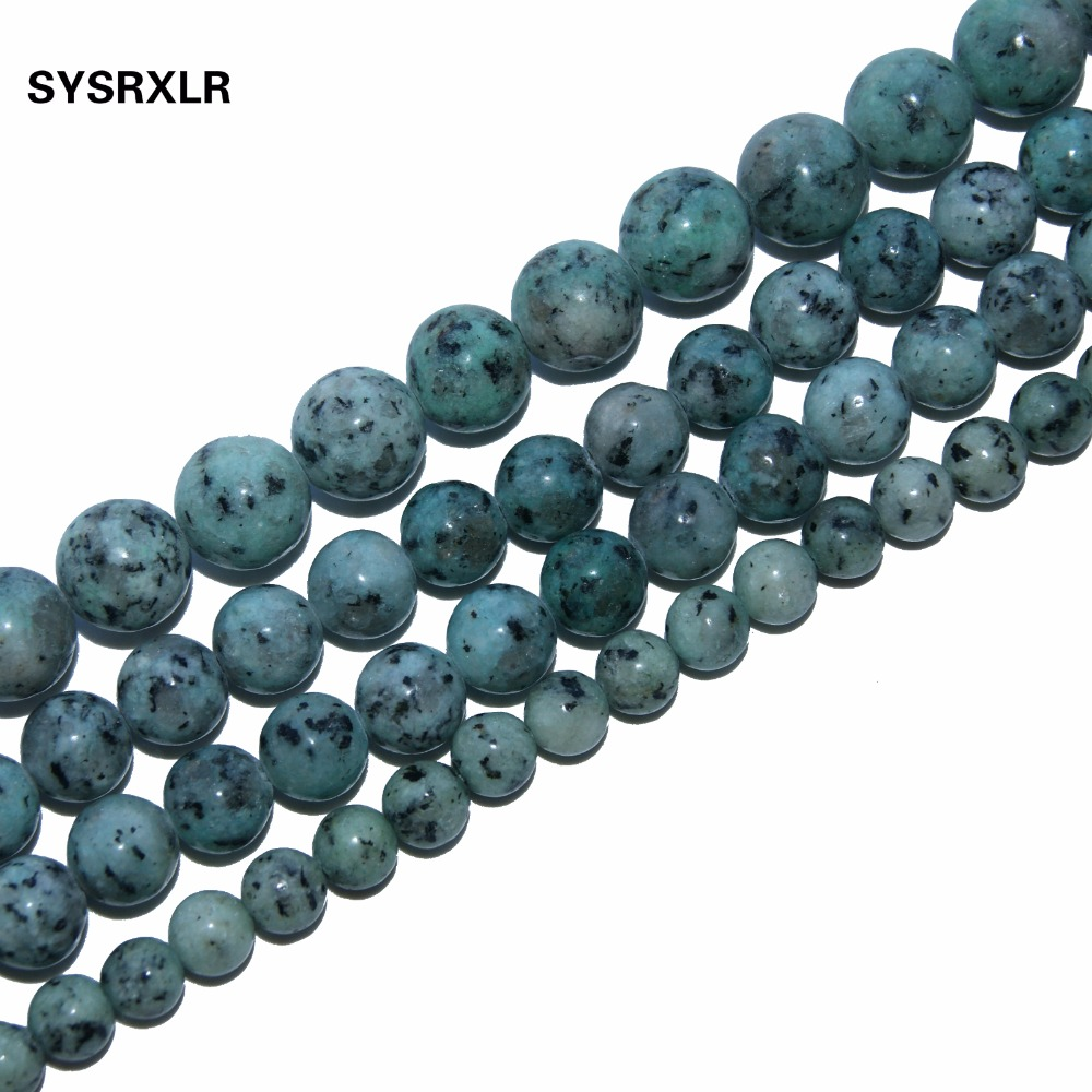 Wholesale Natural Stone For Jewelry Blue Tienshan Beads Are Do It Yourself Crystal Bracelet 4 / 6 / 8 / 10 / 12 MM 15.5 Strand