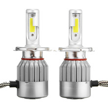 Fuxuan C6 12V 7600LM 6000k Car Lights Bulbs LED H4 H7 9003 HB2 H11 LED H1 H3 H8 H9 880 9005 9006 H13 9004 9007 Auto Headlight pampsee 2pcs c6 led car headlights 72w 7600lm cob auto headlamp bulbs h1 h3 h4 h7 h11 880 9004 9005 9006 9007 car styling lights