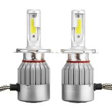 Fuxuan C6 12V 7600LM 6000k Car Lights Bulbs LED H4 H7 9003 HB2 H11 LED H1 H3 H8 H9 880 9005 9006 H13 9004 9007 Auto Headlight 1pair h1 h3 h4 h7 h11 h13 9004 9007 9005 9006 led car head lamps 60w 6000k 9600lm car headlight kits led fog bulbs drl lights