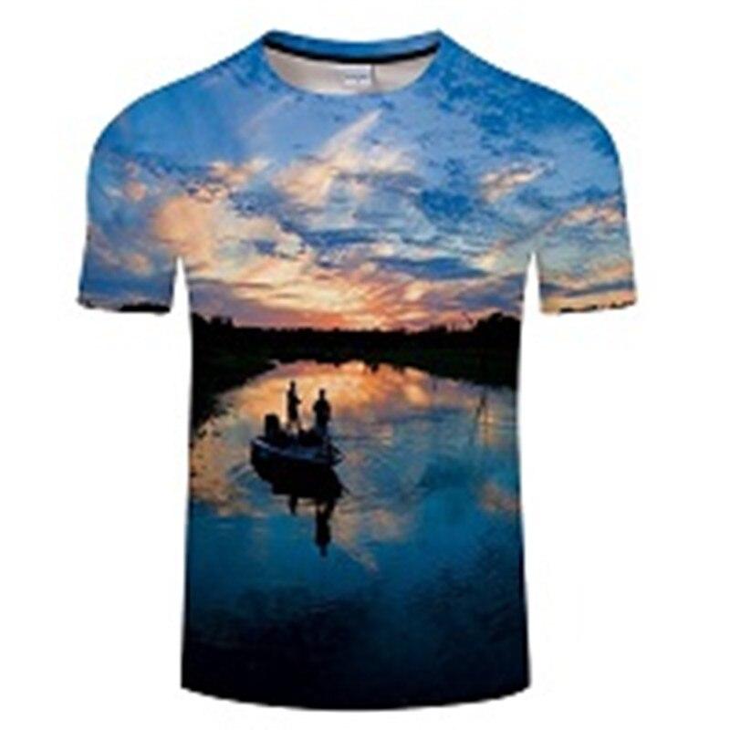 Новая футболка для рыбалки, стильная повседневная футболка с цифровым 3D принтом рыбы, мужская и женская футболка, летняя футболка с коротким рукавом и круглым вырезом, Топы И Футболки S-6XL - Цвет: TXKH448