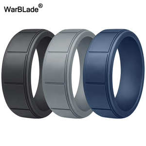 Image 2 - 3pc/set Food Grade FDA Silicone Rings Men Wedding Rubber Bands Hypoallergenic Flexible Sports Antibacterial Silicone Finger Ring