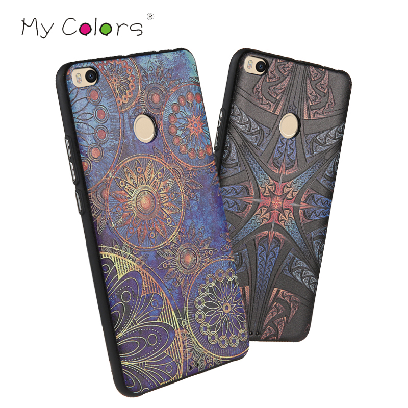 For Xiaomi Mi Max 2 Case 3D Pattern Sculpture TPU Cases Luxury Silicone Cases For Xiaomi Mi Max 2 Painted Soft Back Cover Coque