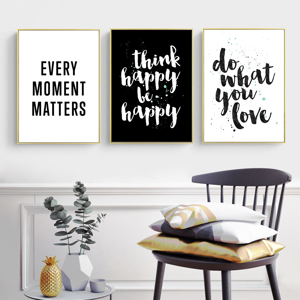 Aliexpress Buy Inspirational Quote Canvas Posters