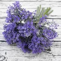 Falso nupcial ramo flores artificiales lavanda color púrpura para la boda novia ramo hogar Navidad flor decorativa
