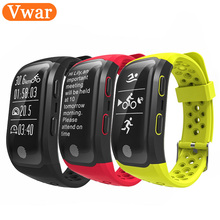 Vwar S908 Bluetooth GPS трекер Smart Band IP68 Водонепроницаемый Смарт Браслет сердечного ритма фитнес-трекер Браслет Шагомер