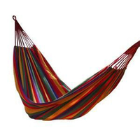 Portable Outdoor Hammock Garden Sports Home Travel Camping Swing Canvas Stripe Hang Bed Hammock Red 280