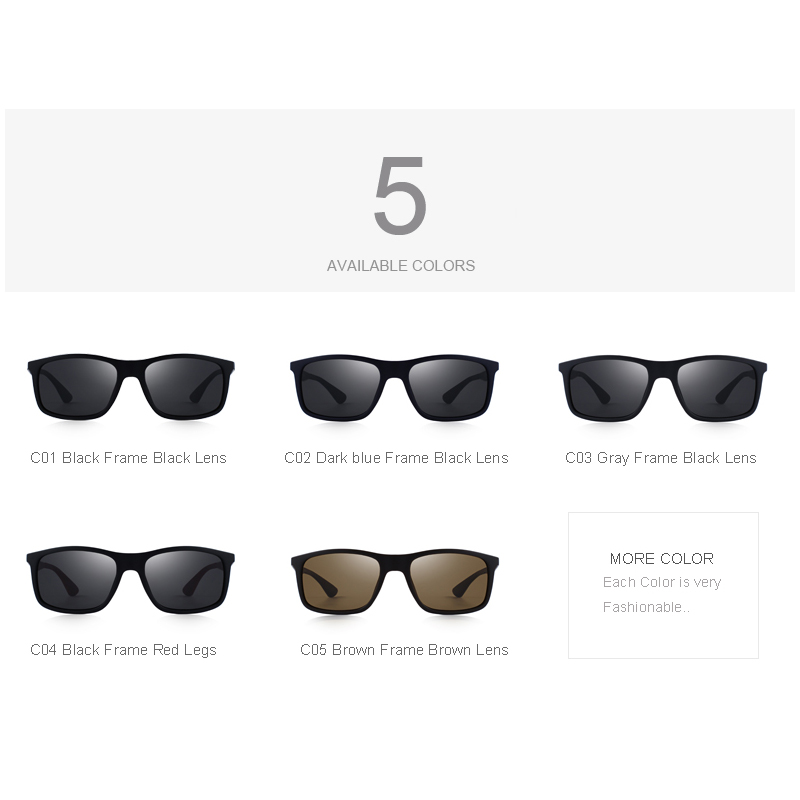 1665431e08b MERRY S DESIGN Men Classic Polarized Sunglasses TR90 Legs Outdoor Sports Ultra  light Series 100% UV Protection S 8161-in Sunglasses from Men s Clothing ...