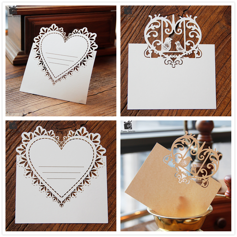 Us 1 32 30 Off Blank Thank You 3d Laser Cut Wedding Invitation Rsvp Cards Small Love Message Gift Cards Postcards Birthday Cards With Envelope In
