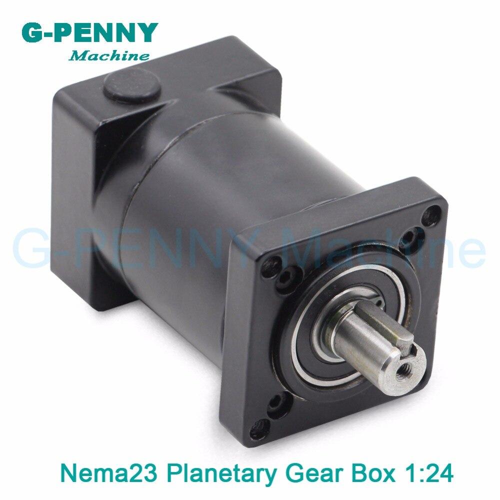 1:24 Nema23 stepper motor planetary reduction Ratio 24:1 planet gearbox 57 motor speed reducer, High Torque high quality !! цены