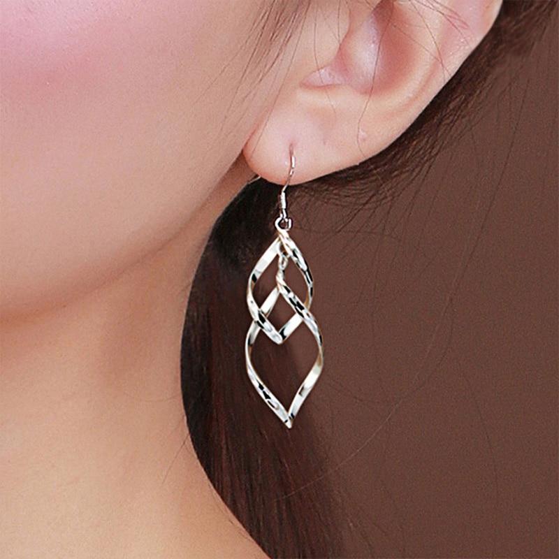 925 ստերլինգ արծաթե կաթիլ ականջողներ - Նուրբ զարդեր - Լուսանկար 5