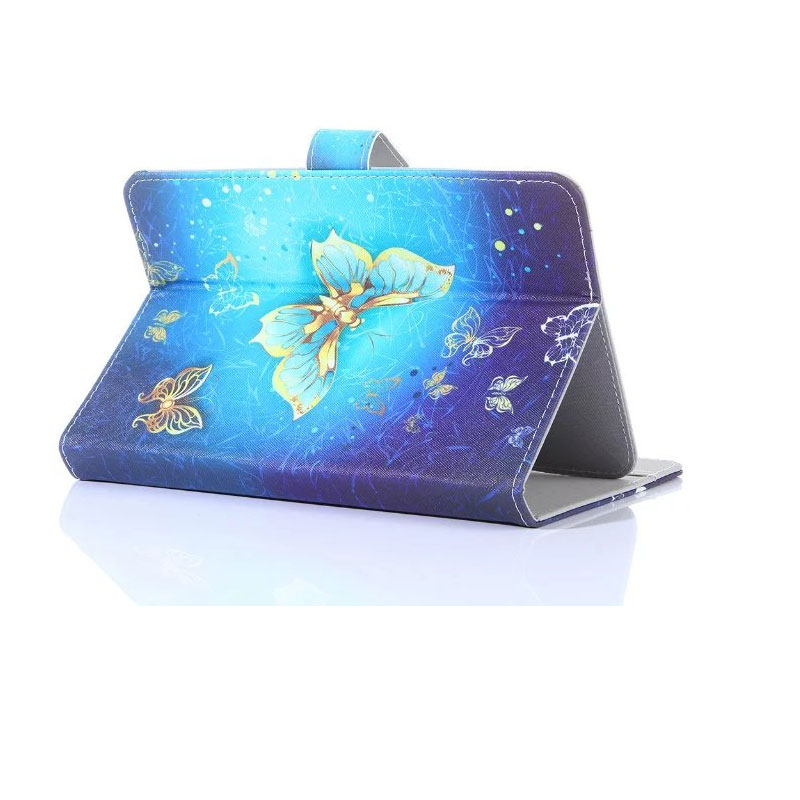 Myslc Universal Cover for <font><b>Supra</b></font> M74NG/<font><b>M720G</b></font>/M722/M723G/M725G/M726G 7 inch Tablet Printed PU Leather Case image