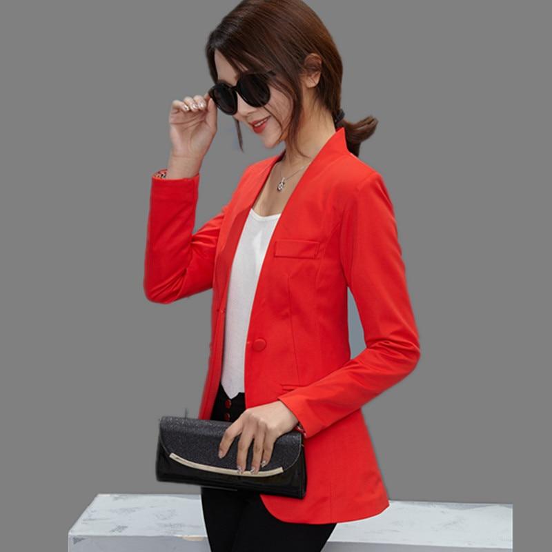 Ol blazer frauen weiblich schlank anzüge candy color mäntel langarm - Damenbekleidung - Foto 2