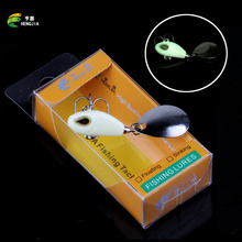 HENGJIA Luminous Fishing Lure Spinner Bait 11.5g Ice Fishing Bait Hook Spinnerbait 1 Pcs/Lot Metal Lures Winter Fishing Tackle