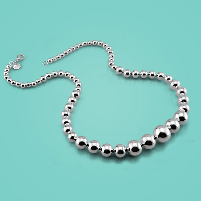 Female Style Simple Style 925 Sterling Silver Necklace Solid