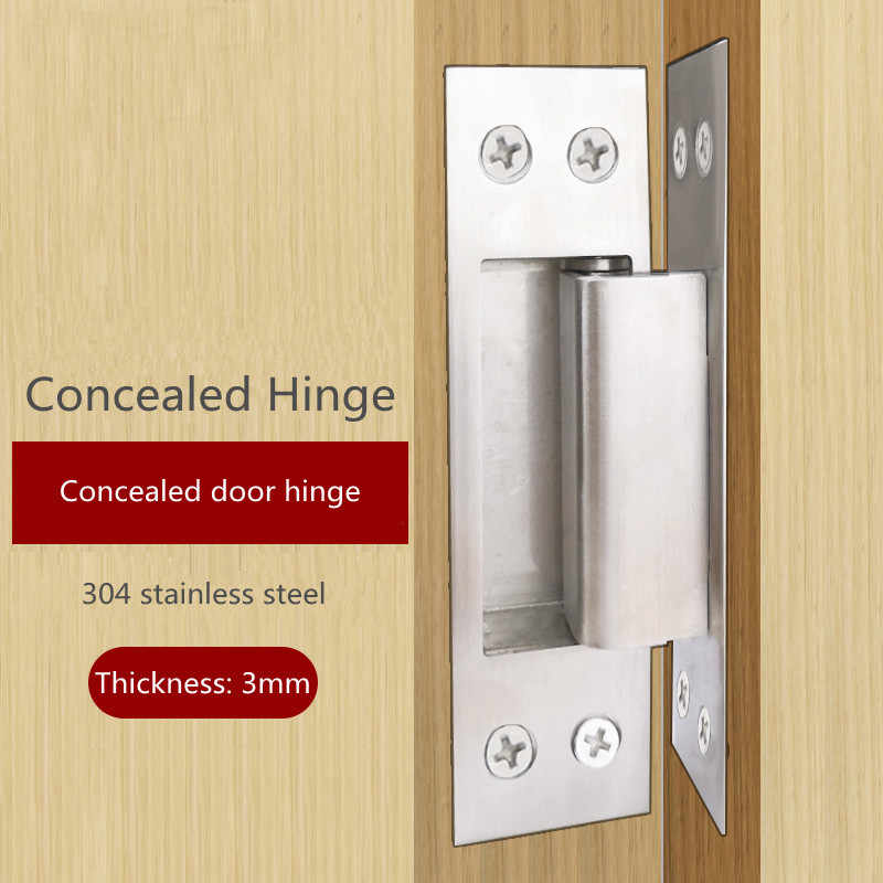Cross Hinge Hidden Type 304 Stainless Steel Door Hinge Trap Door Hidden Dark Wooden Door Folding A Price 1pc