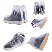 New Men Women Rain Waterproof Flat Ankle Boots Cover Thicker Non-slip Platform Rain Heels Shoes Covers