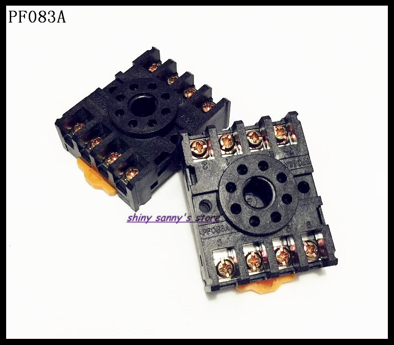 PF083A 8 Pin Relay Socket Base For DH48S, ST3PA, ST3PC, ST3PF, AH3,AH2-Y, MK2P-I,ASY-2D(3D), JTX-2C Brand New 10pcs 8 pin power timer relay socket base holder pf083a for mk2p i dh48s