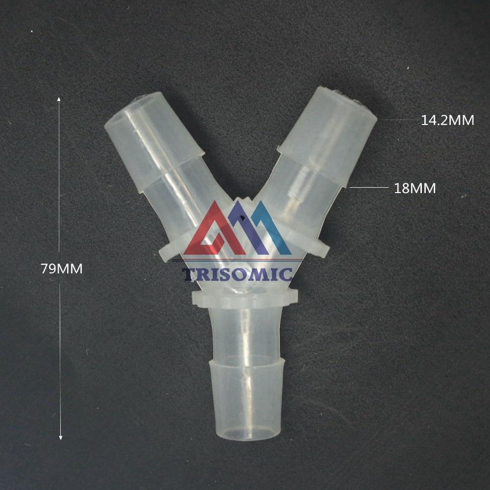 14,2mm Y Tpye Equant Stecker Gleich Rohr Joiner Material Pp Kunststoff Montage Aquarium Airline Aquarium Rohrverbindungsstücke