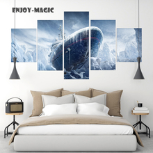 Home Decor Canvas Poster rainbow six siege Painting boat ship ice Wall Art Modern 5 Piece Oil Painting Picture Panel Print A-035