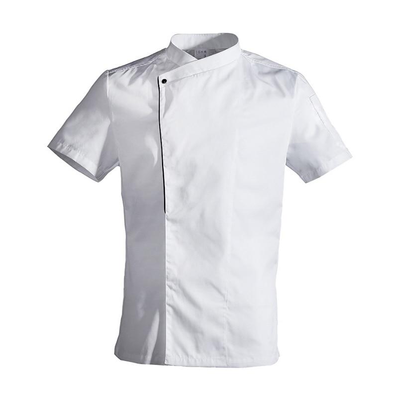 Food Service Restaurant Kitchen Short Sleeve White Chef