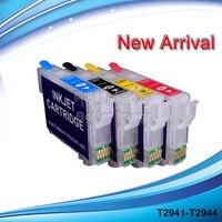 FORMA de TINTA cartucho de tinta Recarregáveis para WF-2630 T2941-T2944 WF-2650 WF-2660 com ARC
