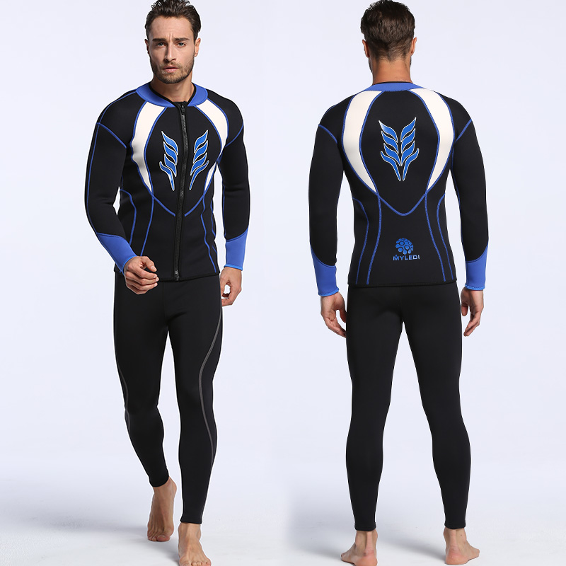 Professional Diving Wetsuit for Men 3MM Neoprene Double Warm Winter Swimming Surfing Two-piece Suit Thicker Dive WatersportsProfessional Diving Wetsuit for Men 3MM Neoprene Double Warm Winter Swimming Surfing Two-piece Suit Thicker Dive Watersports