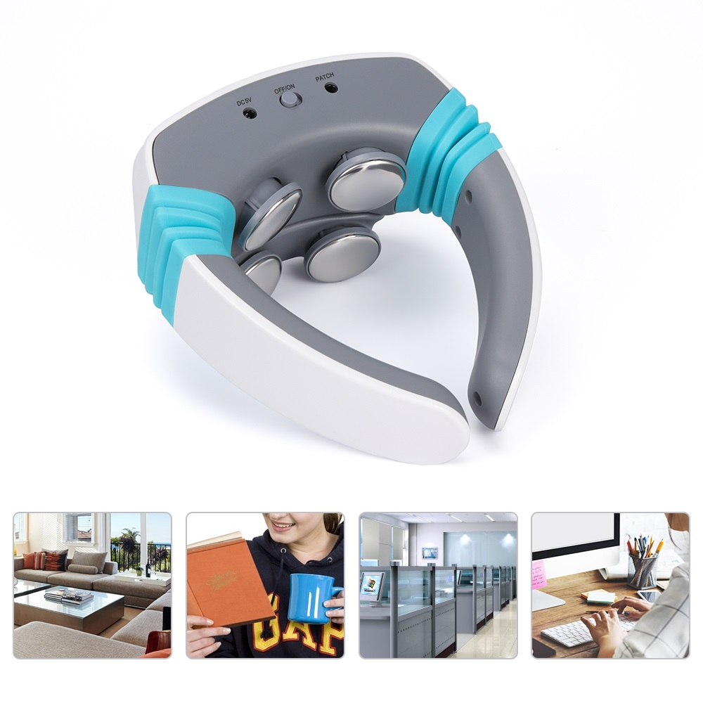 Cervical Massager Electric Pulse Hot Moxibustion Neck Soreness Relief Acupuncture Massage Magnetic Therapy Relief Pain Tool
