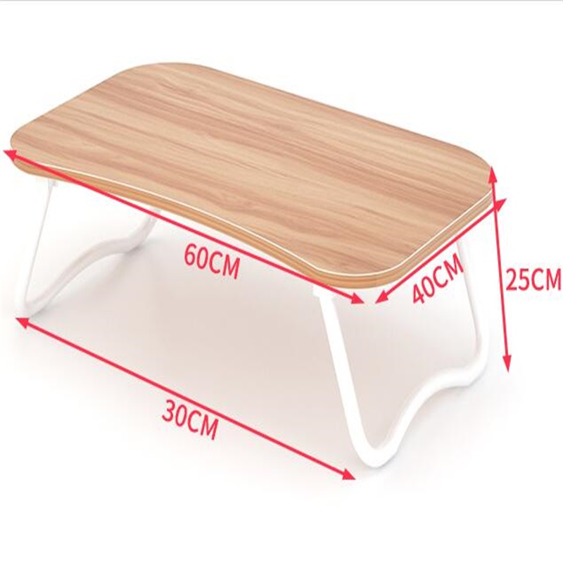 60*40CM Wood Lazy Laptop Desk Portable Bedside Notebook Table Mutilpurpose Computer Desk Children Folding Study Table 120 45cm portable bedside notebook table mutil purpose rremovable computer desk lazy laptop desk children study desk with wheels