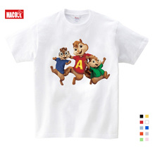 girls baby suit New Alvin and the Chipmunks boys t-shirt t-shirts 3T-9T Costume  kids costume 3-12 years
