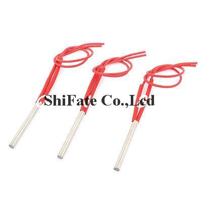220V 300W 2-Wire Industry Mold Cartridge Heater Heating Element 10mm x 80mm 3Pcs