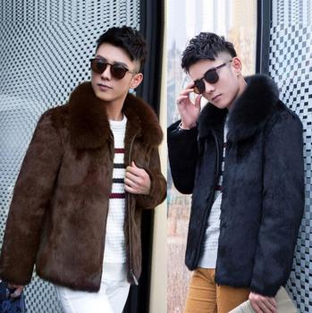 Winter faux mink fur coats mens thicken warm overcoat mens leather jackets and coats masculino chaqueta removable fur collar children clothing 2018 winter boys jackets girls fur coats parkas warm kids faux fur jackets baby boy thicken warm hooded coats