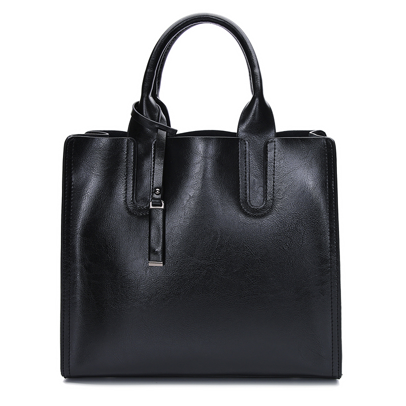 European and American Fashion Retro Genuine Leather Handbag Wax Shopping Bag Tote Casual Bags Shoulder Bag Women Handbag new 2017 fashion brand genuine leather women handbag europe and america oil wax leather shoulder bag casual women