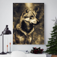 Lion Wolf Eagle Horse Leopard Nordic Posters And Prints Wall Art Canvas Painting Animal Wall Pictures For Living Room Home Decor