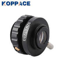 KOPPACE Microscope lens C-mount Lens 1/3 CTV For Trinocular Stereo Microscope 25mm Camera Interface Microscope Camera Adapters
