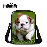 Dispalang brand designer women's causal messenger bags animal SharPei Belldog dog travel crossbody bag for children small flap
