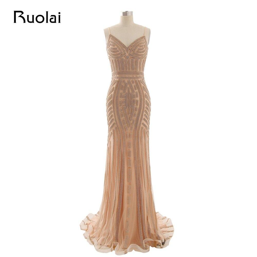 Sexy 2019 Prom   Dresses   Long Sweetheart Spaghetti Strap Mermaid Crystal   Evening     Dresses   Tulle Vestido de Festa Formal Party PD20