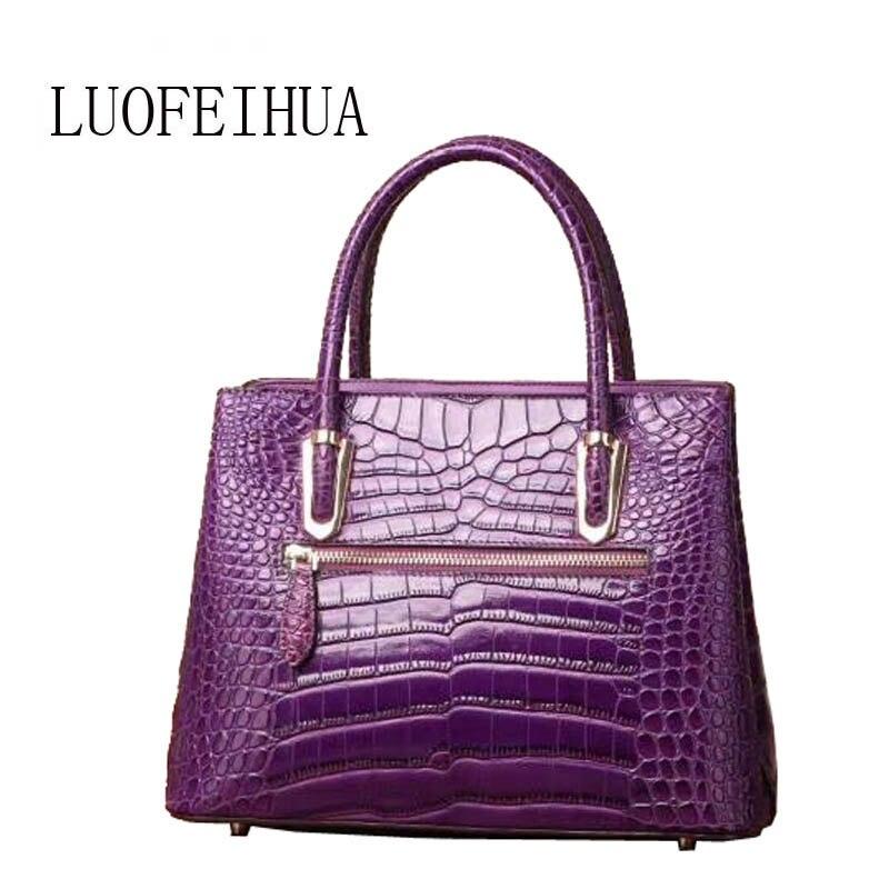 En Mode purple Sac Blue 2019 Luxe Épaule À Gamme Nouveau Crocodile black Cuir De Main Haut Messager qxawqR8P
