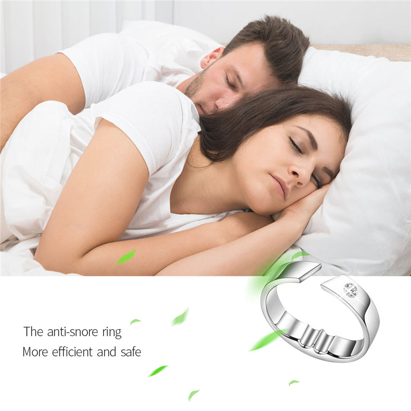 Titanium Anti Snore Ring Acupressure Sleeping Breathe Aid Acupressure Treatment Stop Snore Device Natural Night Sleeping Aid 0